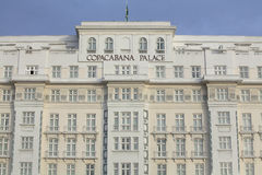 科帕卡巴纳宫殿,里约热内卢 库存图片