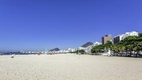 科帕卡巴纳海滩在里约热内卢 库存图片
