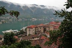 科托尔湾是一个美妙的自然海湾在黑山 库存照片