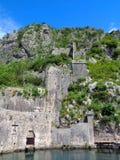 科托尔老威尼斯式堡垒,联合国科教文组织世界遗产名录站点 免版税库存图片
