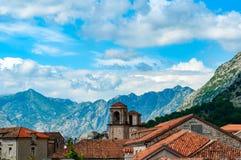 科托尔老镇黑山 库存图片