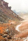 科托帕克西火山被硬化的熔岩流 免版税库存照片
