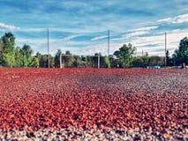 科捷利尼奇体育场在一好日子 免版税图库摄影