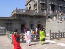 科摩林角,泰米尔纳德邦,印度- 2008年有六个毗邻房间的10月7日凝思大厅Vivekananda岩石纪念品的 库存图片