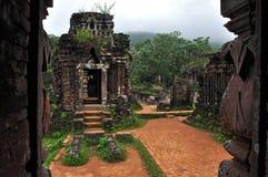 我的儿子印度Shiva寺庙, Quang Nam,越南 库存图片