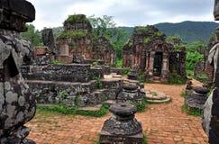 我的儿子印度Shiva寺庙, Quang Nam,越南 免版税库存照片