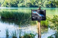 科教文组织国家公园在克罗地亚 免版税库存图片