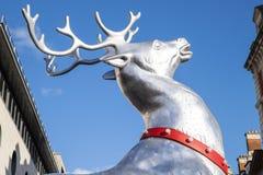 科文特花园圣诞节驯鹿 免版税库存照片