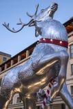 科文特花园圣诞节驯鹿 免版税库存图片