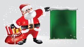 科斯塔圣诞老人带来礼物分布 愉快的生日 向量例证