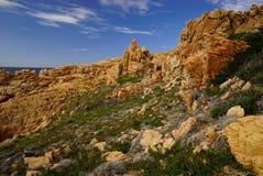 科斯塔Paradiso在撒丁岛意大利 免版税库存图片