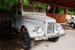 科斯托皮尔,乌克兰- 2016年7月13日:老葡萄酒苏联汽车 免版税图库摄影