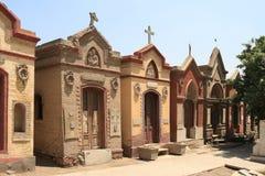 科普特人的公墓在老开罗 免版税库存照片