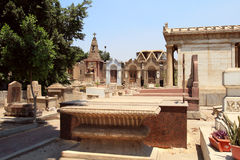 科普特人的公墓在老开罗 库存图片