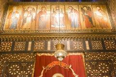 科普特人的开罗,埃及垂悬的教会  免版税库存图片