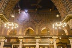 科普特人的开罗,埃及垂悬的教会  免版税库存照片