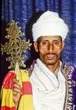 科普特人的教士在他的埃塞俄比亚 免版税图库摄影