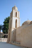 科普特人的沙漠埃及人修道院 免版税库存照片