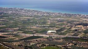科林斯湾风景,希腊 免版税库存图片