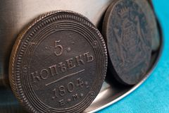 5科比1804个所有细节和纹理是可看见的铜表面特写镜头 库存照片