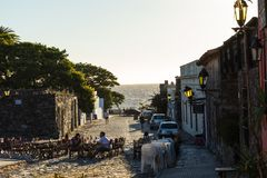 科洛尼亚德尔萨克拉门托,一个城市在西南乌拉圭 库存图片