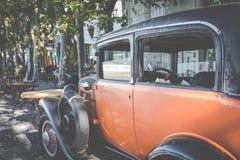 科洛尼亚德尔萨克拉门托,乌拉圭- 2018年2月03日:老汽车同水准 免版税库存照片