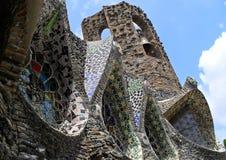 科洛尼亚省Guell教会的细节  免版税库存图片