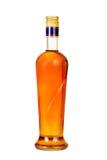 科涅克白兰地瓶。 库存图片