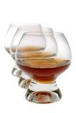 科涅克白兰地葡萄酒杯 免版税库存照片