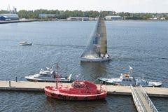 科特卡港口在芬兰 免版税库存照片
