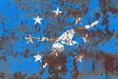 科珀斯克里斯蒂市烟旗子,得克萨斯状态,上午美国  免版税库存照片