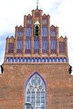 科珀斯克里斯蒂14世纪哥特式教会,门面,弗罗茨瓦夫,波兰 库存图片