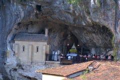 科瓦东加教堂,圣诞老人Cueva圣所,阿斯图里亚斯, Spai的图象 库存照片