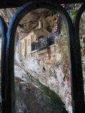 科瓦东加教堂,圣诞老人Cueva圣所,阿斯图里亚斯, Spai的图象 免版税图库摄影