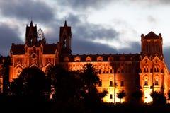科米利亚斯,西班牙罗马教皇大学  库存照片
