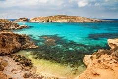 科米诺岛海岛 免版税库存照片