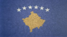 科索沃旗子的原始的纹理3D图象  免版税库存照片