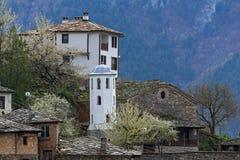 科索沃,保加利亚地道村庄有19世纪房子的 免版税库存照片