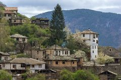 科索沃,保加利亚地道村庄有19世纪房子的 免版税库存图片