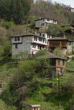 科索沃,保加利亚地道村庄有19世纪房子的 库存图片