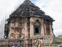 科纳克太阳神庙太阳寺庙在印度 免版税库存图片