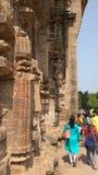 科纳克太阳神庙太阳寺庙-印度的建筑秀丽 免版税库存照片