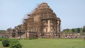 科纳克太阳神庙太阳寺庙-印度的建筑秀丽 库存图片