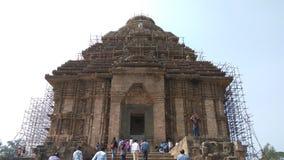 科纳克太阳神庙太阳寺庙-印度的建筑秀丽 库存照片