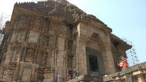 科纳克太阳神庙太阳寺庙-印度的建筑秀丽 图库摄影