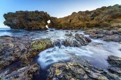 科罗娜del Mar跃迁岩石,加利福尼亚 库存图片