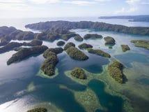 科罗尔海岛在帕劳 群岛,一部分的密克罗尼西亚地区 免版税图库摄影