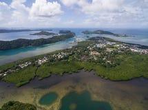 科罗尔海岛在帕劳 群岛,一部分的密克罗尼西亚地区 库存图片