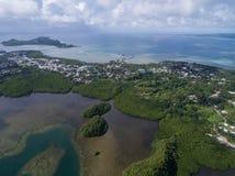 科罗尔海岛在帕劳 群岛,一部分的密克罗尼西亚地区 库存照片