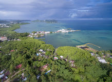 科罗尔镇在帕劳群岛 库存图片